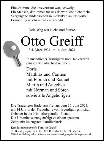 Otto Greiff