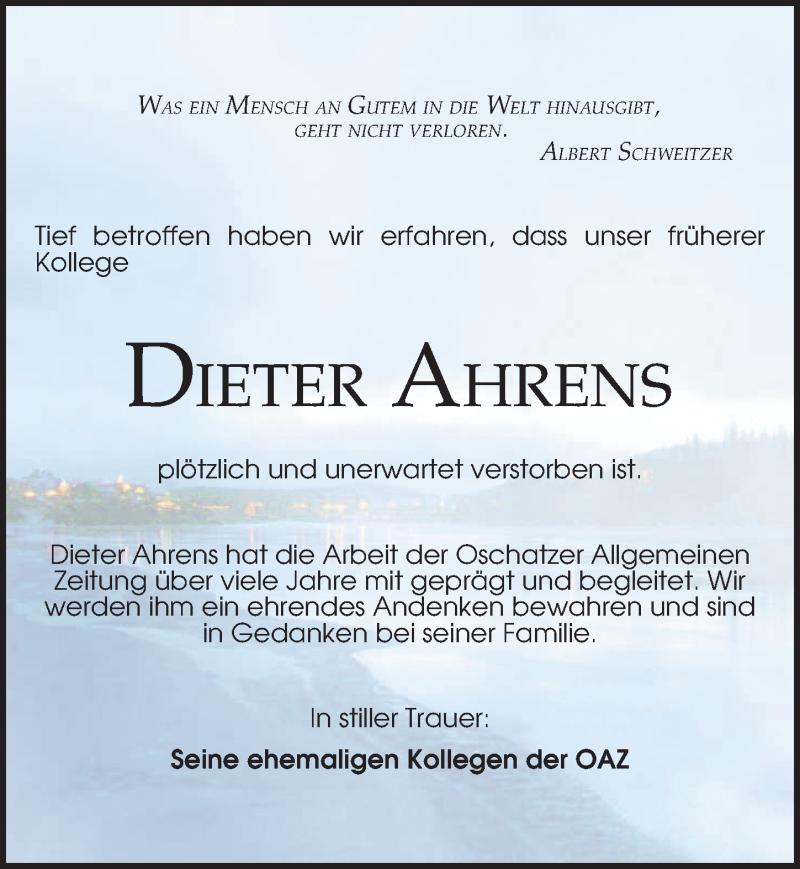 Traueranzeige für Dieter Ahrens vom 21.07.2021 aus Leipziger Volkszeitung