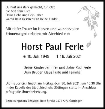Horst Paul Ferle