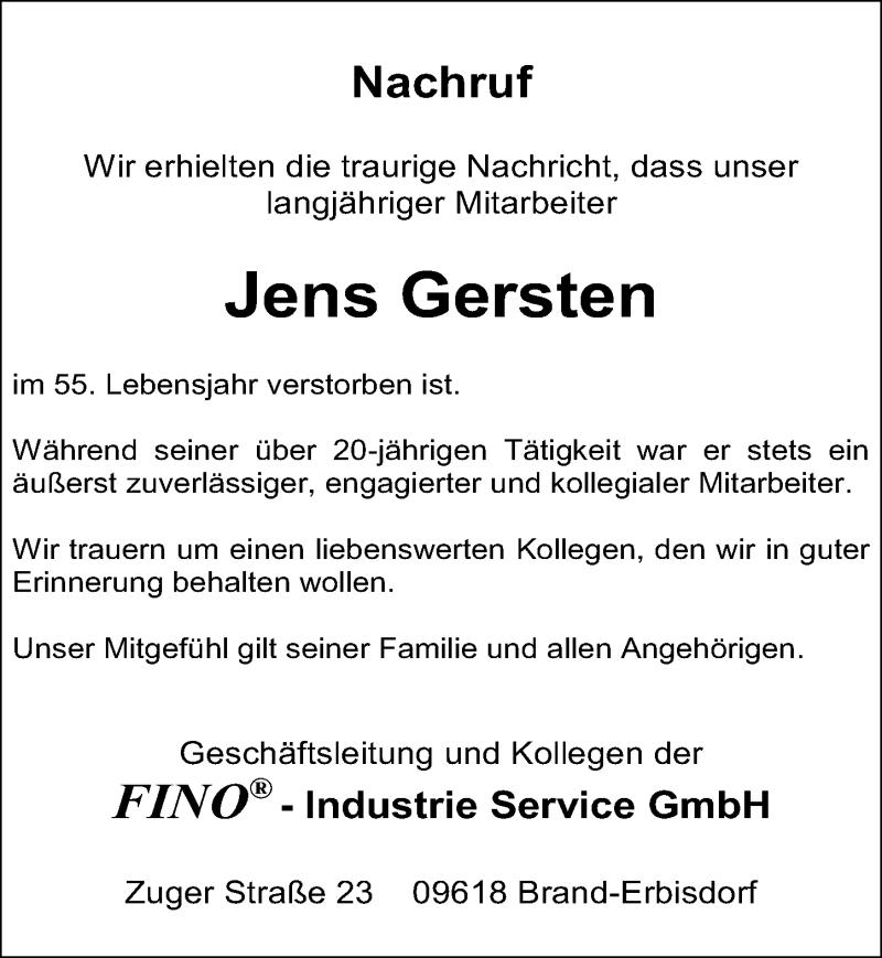 Traueranzeige für Jens Gersten vom 17.07.2021 aus Leipziger Volkszeitung