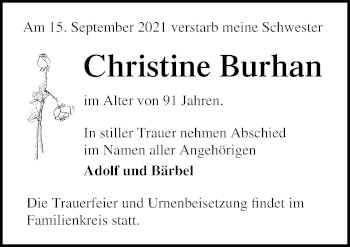 Christine Burhan