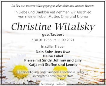 Christine Witalsky