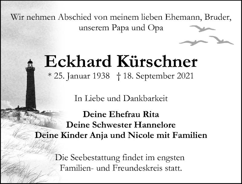 Traueranzeige von  Eckhard Kürschner