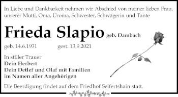 Frieda Slapio