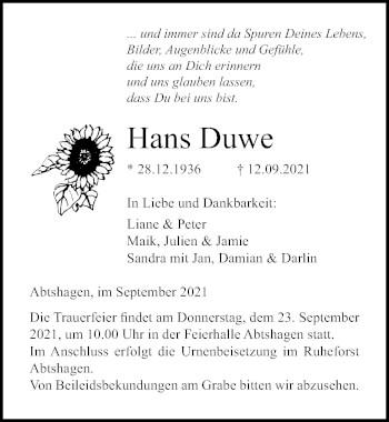 Hans Duwe
