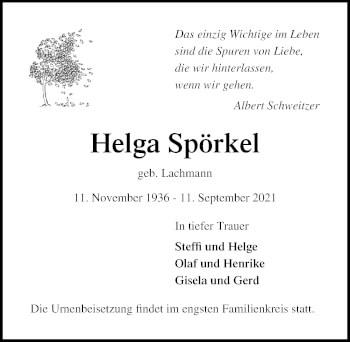Helga Spörkel