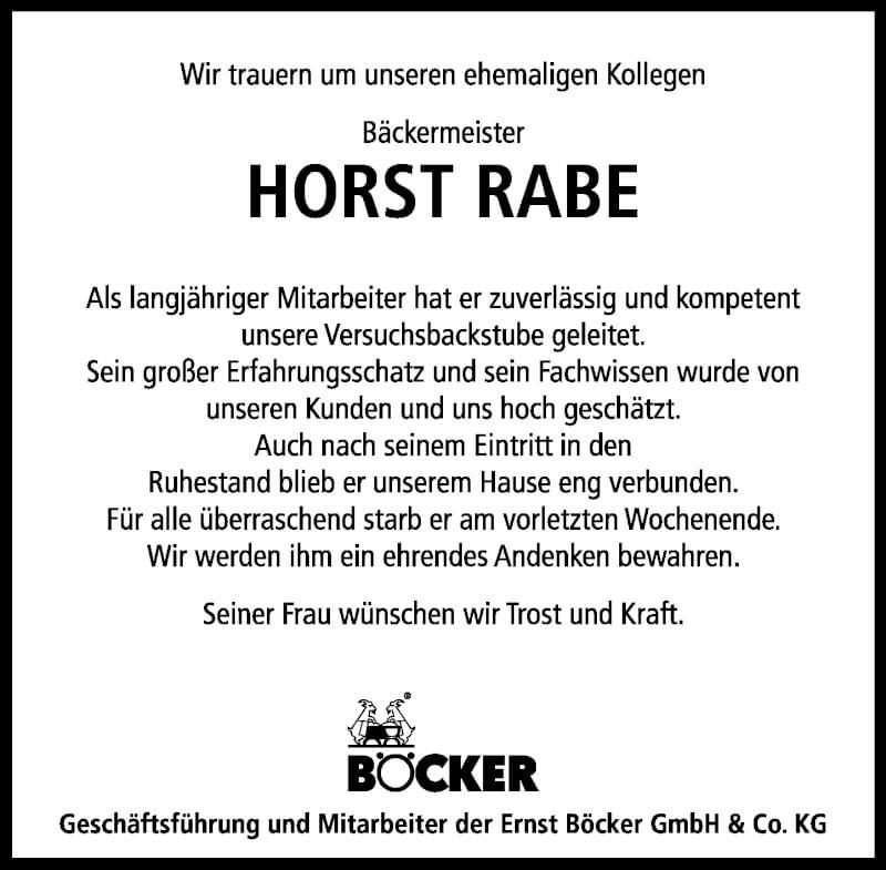 Traueranzeige für Horst Rabe vom 18.09.2021 aus Schaumburger Nachrichten