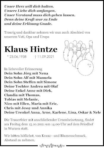 Klaus Hintze