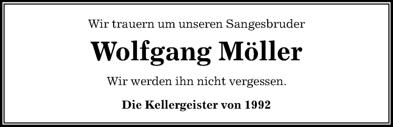 Traueranzeige für Wolfgang Möller vom 11.09.2021 aus Peiner Allgemeine Zeitung